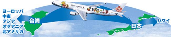 チャイナエアラインは東京ホノルル直行便、毎日運航