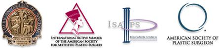 アメリカ形成外科学会専門認定医のマーク