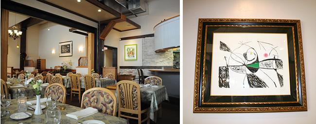 スペインの画家のジョン・ミロから取った店名。お店にはミロの絵画が。