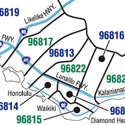 ハワイのZIPコード一覧