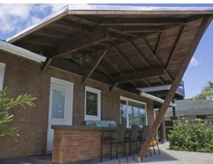 玄関前ポーチの製作と屋根の延長