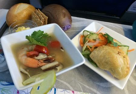 ハワイアン航空 ビジネスクラス 前菜