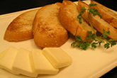 西京クリームチーズとフランスパン