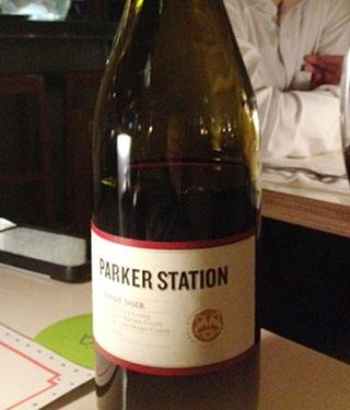 Parker Station Pinot Noir, Monterey Country CA