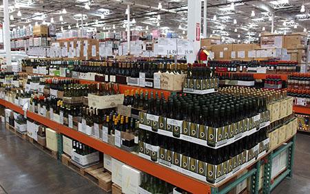 ハワイのコストコのワイン売り場