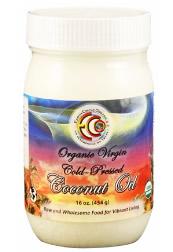 Earth Circle Organics 社の オーガニック ヴァージン コールドプレス ココナッツオイル