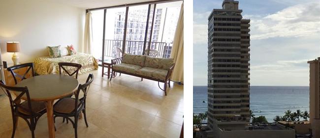 ハワイ売り物件 ワイキキ・バニヤン 1202号室 タワー1