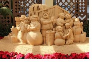 もう見た?シェラトン・ワイキキだけのホリデー砂彫刻アート