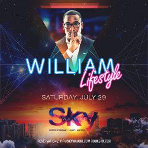 スカイワイキキに La の人気 DJ. ウィリアム ライフスタイルがゲスト出演