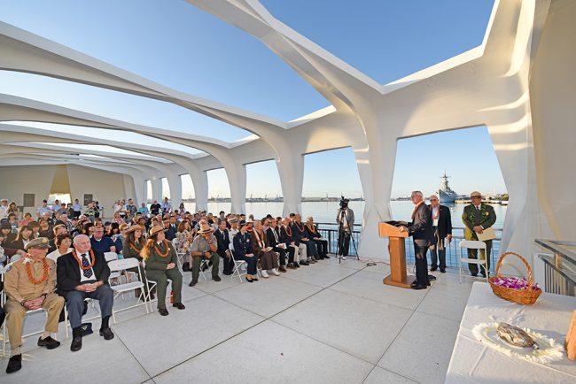 USSアリゾナ記念館/「ブラッケンドキャンティーンセレモニー」が開催