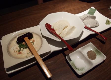 居酒屋がぜん 手作り豆腐3種盛り