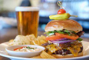 Harbor Bourbon Bacom Cheddar Burger with Egg
