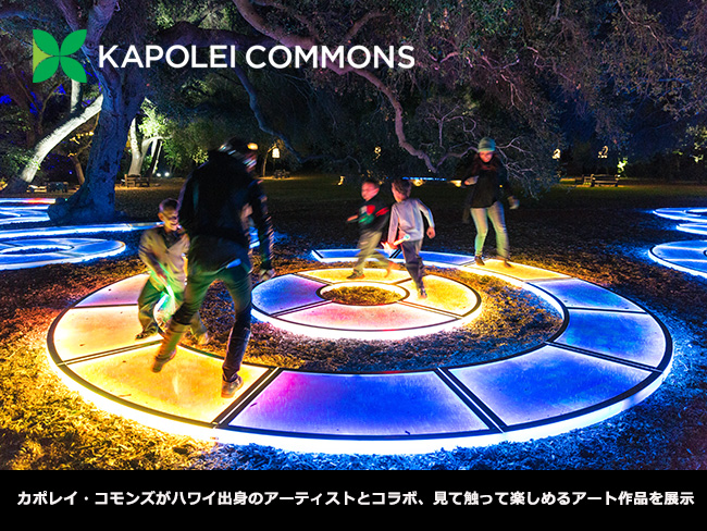 カポレイ・コモンズ、見て触って楽しめるアート作品を展示