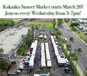 カカアコ・ファーマーズマーケット 水曜日夕方のサンセットマーケットがスタート!