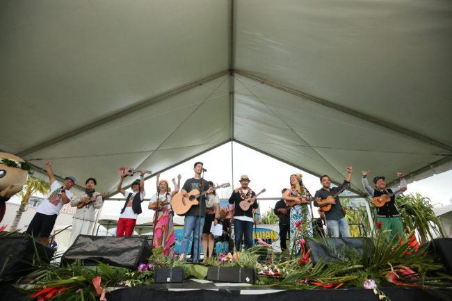 第12回目ウクレレ・ピクニック・イン・ハワイ、ビクトリア・ワード公園にて更にパワーアップ!