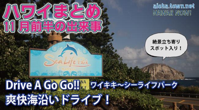 【アロハタウンTV vol.10】海沿いドライブ!&ハワイのまとめ!