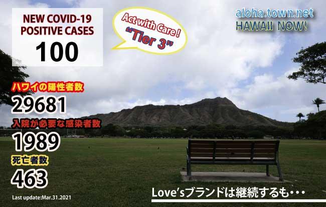 3月のハワイ 【Love'sブランドは4月以降も継続・・】