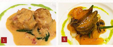 コナ産アワビと帆立貝のソテー